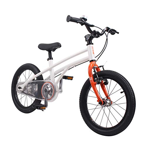 Boy's Mountain Bike Stylish Girls' Bikes 3-8 Years Old Outdoor Sports Bikes 14, 16-inch Bicycle The Best Gift for Kids (Color : White, Size : 14 INCHES)