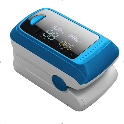 Monitor de saturación de oxígeno,pulsioxímetro de frecuencia cardíaca,monitor de oxígeno en...