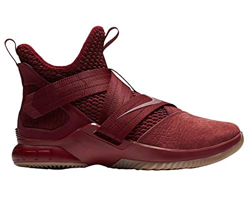 Nike Herren Lebron Soldier XII SFG Basketballschuhe, Mehrfarbig (Team Red/Team Red/Gum Light Brown 600), 44 EU