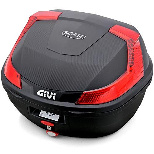 GIVI (ジビ) バイク用 リアボックス 37L 未塗装ブラック レッドレンズ モノロックケース BLADE B37N 78037