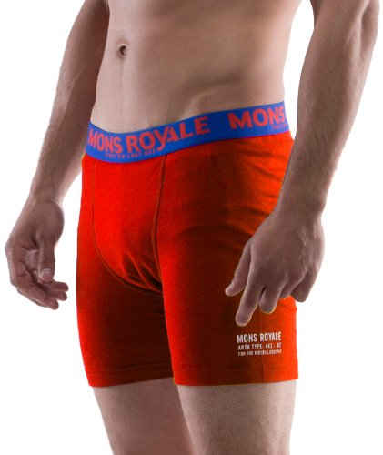 Mons Royale Boxer pour Homme S Rouge - Rouge
