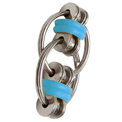 xuew Schlüsselring Fidget Flippy Kette Fidget Spielzeug zu Entlasten Bremskraftbegrenzer Erwachsene und Kinder Blau