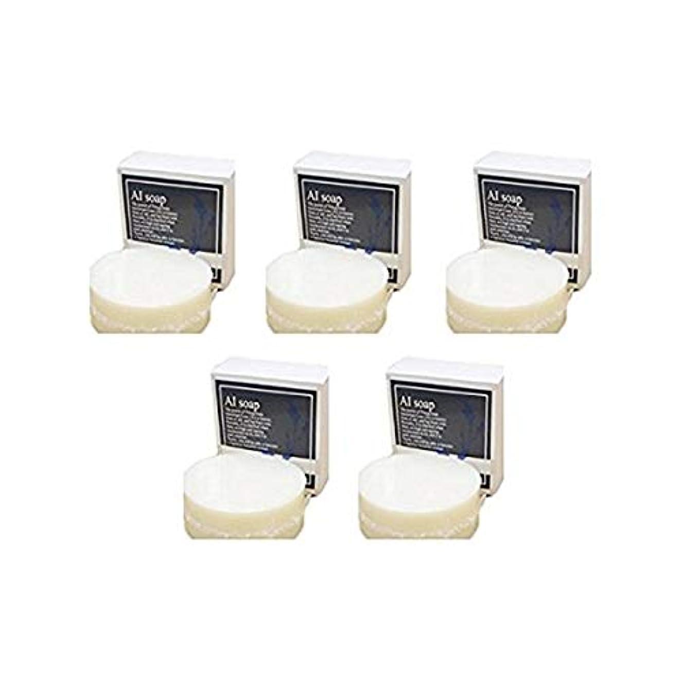 AI soap 藍石鹸 5個セット(100g×5個)藍エキス配合の無添加石鹸