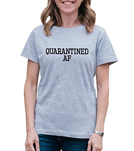 7 ate 9 Apparel Women's Quarantined AF Grey T-Shirt Medium