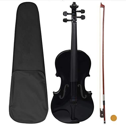 UnfadeMemory Set Completo Violino con Arco e Mentoniera Nero 4/4