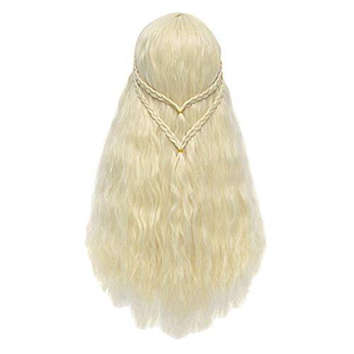 Excellentes Game of Thrones adulte Perruque avec vagues Blond 75 cm LARP Got
