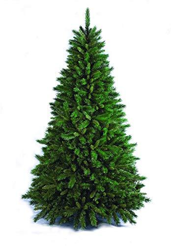 Esidra Natale Artificiale, Albero in PVC in 5 Misure, Innesto ad Uncino, Base a Croce, 180 cm