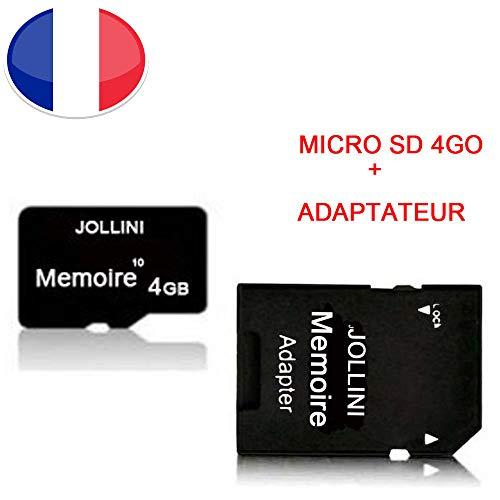 Jollini® voor iPhone X (5,8 inch), micro-SD-geheugenkaart 4 GB, klasse 10 + SD-adapter