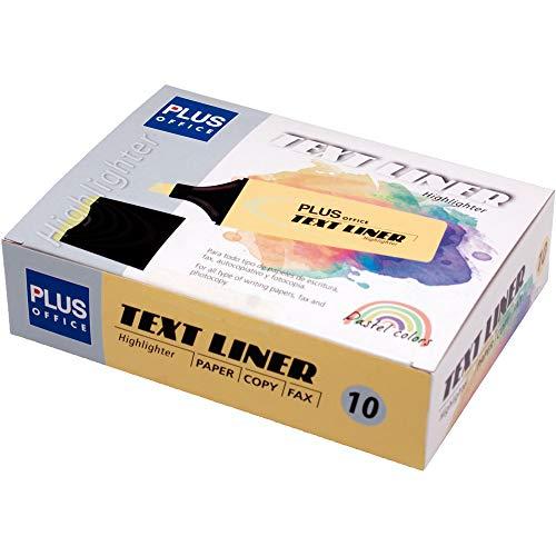 Plus Office Fluorescente Plus TEXT LINER Pastel Amarillo Caja 10 unidades