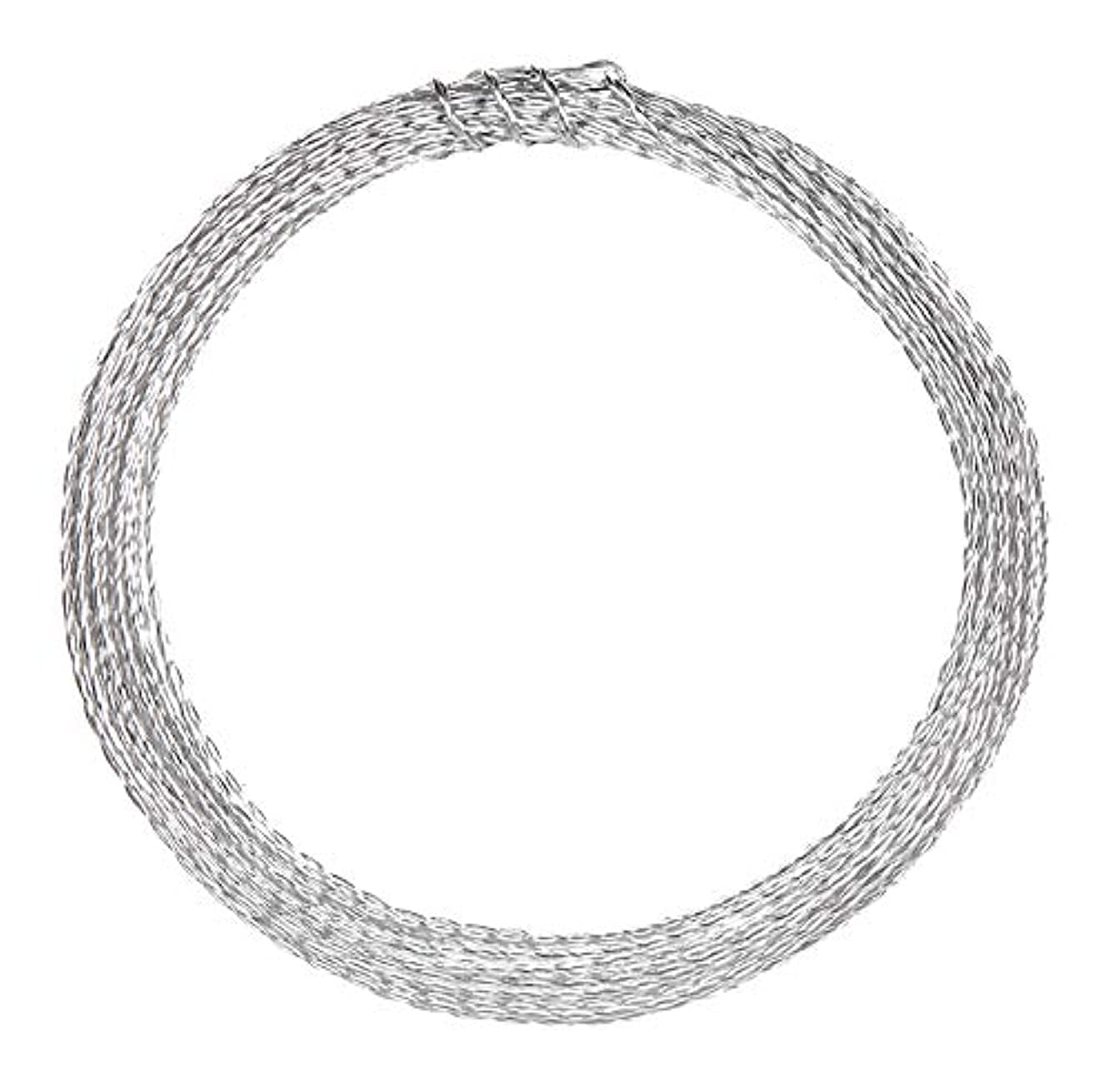 Jewelry Designer 1999-4156 Aluminum Jewelry Wire Silver 2Ply 24G 6Yds