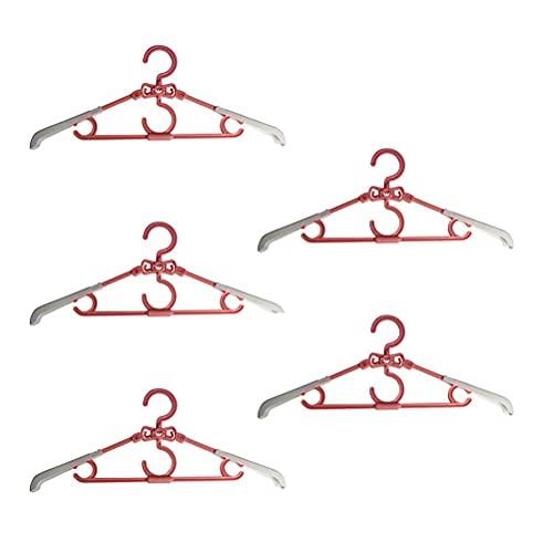 Perchas plegables 5PCS Perchas rotativas Perchas de ropa para uso en el hogar