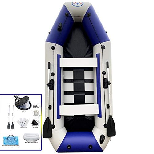 YUESFZ Aufblasbare Kajaks Sitzkajaks Dickes Aufblasbares Kanu Mit Hartem Boden, Tragbares, Verschleißfestes Angriffsboot Mit Mehreren Airbags, Hovercraft Treibendes Fischerboot