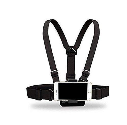 JUNICON Cinturón ajustable para teléfono móvil Selfie Soporte para el pecho Arnés para el pecho Compatible con iPhone 6 iPhone 6 Plus 5 5s 5c Samsung Galaxy S4 S3 Note 3 (correa para el pecho)