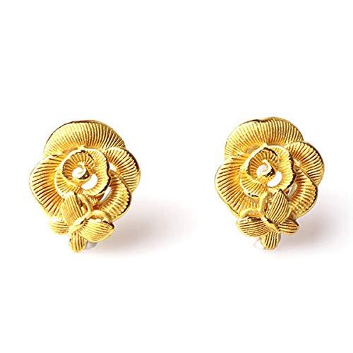 PRIMAGOLD(プリマゴールド) 純金 バラと蝶モチーフ ピアス レディース K24 24金ジュエリー (ピアス)