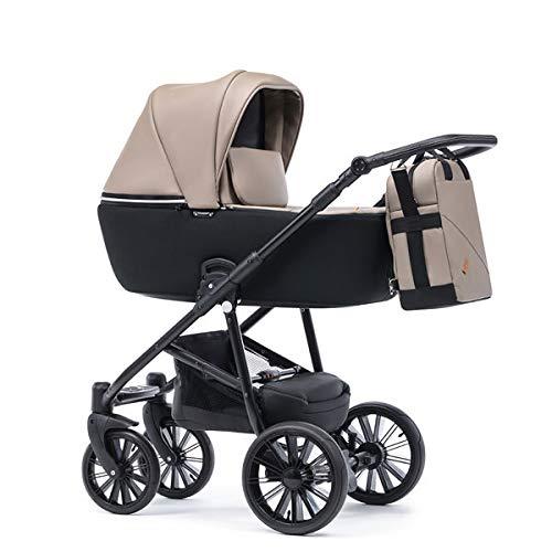 Krausman Kinderwagen 3 in 1 Verano Lux Beige Kombikinderwagen Babyschale Babywanne Sportwagen Design Made In Germany