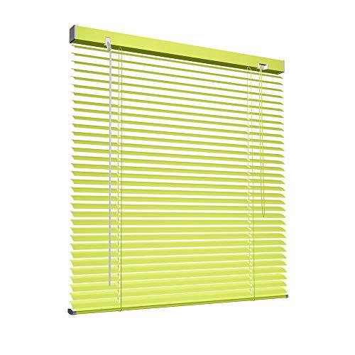 Aluminium Jalousie 110 x 130cm, gelb, VICTORIA M - Jalousie ohne Bohren, inkl. Klemmclips