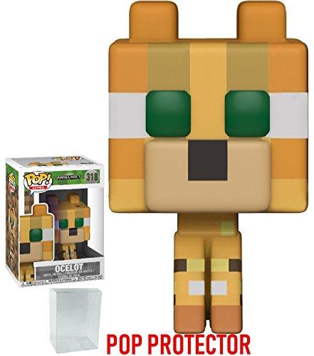 Minecraft Funko 8-Bit Pop! Games Ocelot Vinyl Figure (Bundled with Pop Box Protector Case)
