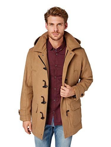 TOM TAILOR Wool Blend Dufflecoat Jackets, hay beige, beige((8278)), Gr. XXL