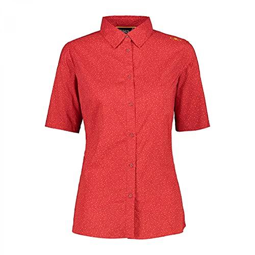 CMP Camisa de Media Manga elástica con protección UPF 30 para Mujer, Camisa, 30T7016, No aplicable, Non Applicabile