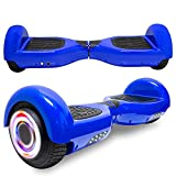 cho Electric Hoverboard Smart Self Balancing Scooter Hover Board Built-in Speaker LED Wheels Side Lights for Kids- Safety Certified (Classic Blue)