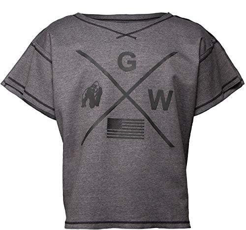 Gorila Wear Bodybuilding T-Shirt - Old School Work out Top Hombres - Sheldon Rag Top Gray L/XL