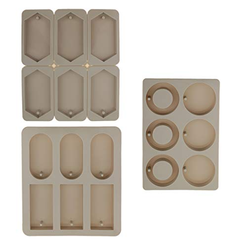 lahomia 3x DIY Candle Wax Tablets Aroma Silicone Resin Mold