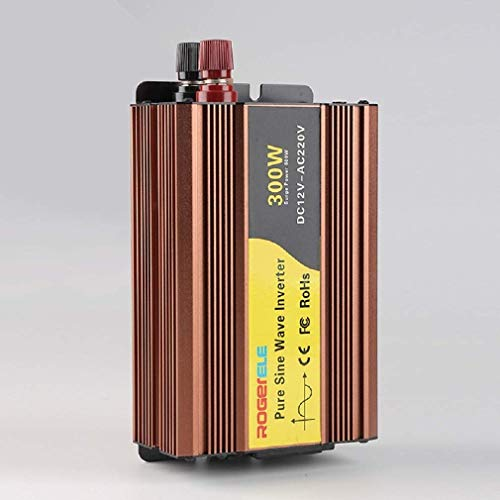 Inversor de corriente, DC 12V / 24V / 48V a AC 220V Inversor de corriente para coche, Inversor de corriente para coche de onda sinusoidal pura Adecuado para coches.(Tamaño: 48V / 220V / 300W) 12V /