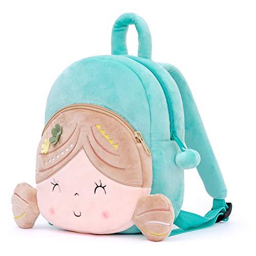 Gloveleya Kids Backpack Baby Gift Baby Luggage Back to School Travel use - Gloveleya Spring Girl Backpack - Flat Green