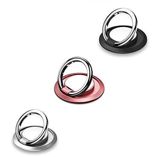 Anillo movil,Anillo movil Dedo,Soporte de Anillo de Dedo,Rotación de 360 Grados Anillo de Dedo Agarre Kickstand Compatible para Varios Teléfonos móviles Teléfonos Inteligentes.(3 Pack)