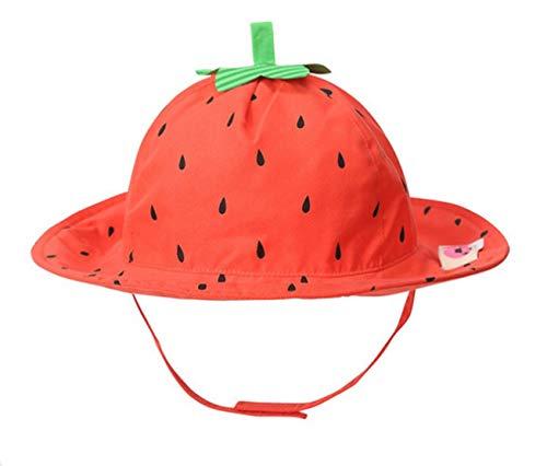 Baby Cartoon Kinderhut Fischerhut Sonnenhut Sommerhut Sonnenschutz UV-Schutz Erdbeere 1-2 Jahre