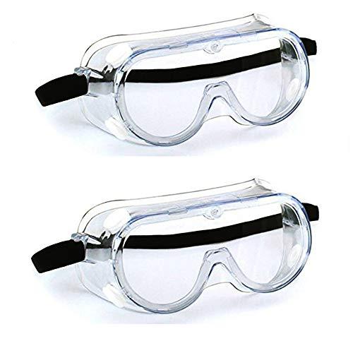 Gafas Proteccion,Gafas Protectoras,Gafas de Seguridad Lentes Livianos de Visión Amplia, Lentes Transparentes Protección Ocular Ajustable para Laboratorio de Construcción Splash Home Lawn (2pcs)