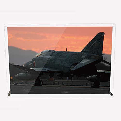 CuVery アクリル プレート 写真 航空自衛隊 戦闘機 F-4EJ改 デザイン スタンド 壁掛け 両用 約A3サイズ