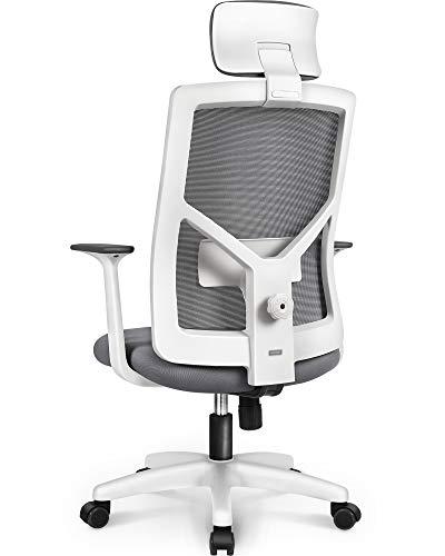 NEO CHAIR Office Chair Computer Desk Chair - Bulk Business Ergonomic High Chair Cushion Lumbar Support Wheels Comfortable Mesh Racing Seat Adjustable Swivel Rolling Executive (Gray-H)