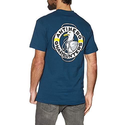 Anti Hero x Gnarhunters - Maglietta a Maniche Corte Blu Porto S