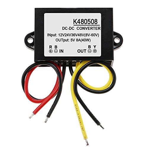 YUQIYU DC-DC Converter 12V/24V/36V/48V(8-60V) to 5V Power Unit Module High Conversion Efficiency Voltage Regulator, GYVRM-K480508