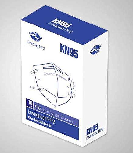 Envirobest, mascarilla protectora para el respirador FFP2/ KN95, 94% de filtración, paquete de 10