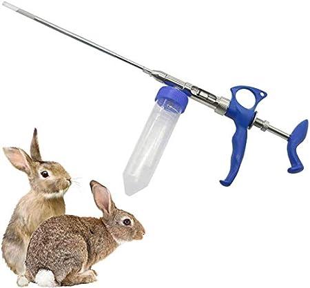 BJYX 2 ml Kit de Inseminación Artificial de Conejo Colector de Semen con 18 conductos deferentes, 1 colector, 2 revestimientos colectores, 2 Vasos colectores