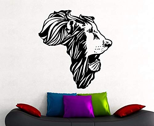 Lion Head Wall Sticker Africa Animal Map Decoration Home Photo