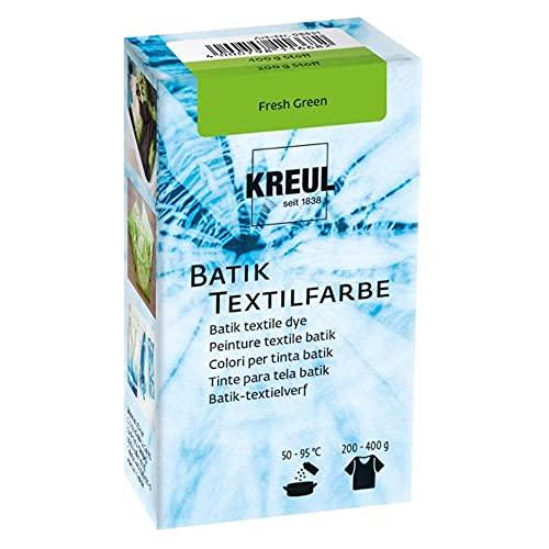 Kreul 98531 - Batik-Textilfarbe Fresh Green, 70 g, Farbpulver zum Batiken und Färben von Textilien
