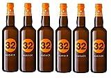 32 Via dei Birrai - AUDACE - Birra Bionda Doppio Malto 8,4% Alta Fermentazione [ 6 Bottiglie da 750 ml ]