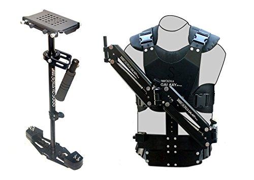 shootvilla HD-3000Stabilisator mit Galaxy Pro Dual Arm & Body Weste Steadycam System (sv-gpva-hd-3000) für Video DSLR Kameras | Gratis Zubehör
