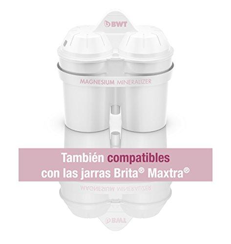 BWT 814336 JARRA Agua Tipo BRITA, Senza Bisfenolo A e ftalati, White, 6 unità