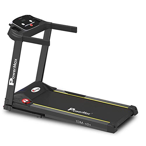 PowerMax Fitness TDM-101 2HP (4HP Peak) Motorized Treadmill with Free Installation Assistance, Home Use & Automatic Programs