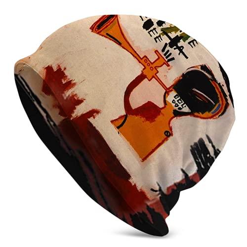 Fodmua Jean Michel Basquiat - Gorro de correr para hombre y mujer, ideal para motociclismo, ciclismo, correr
