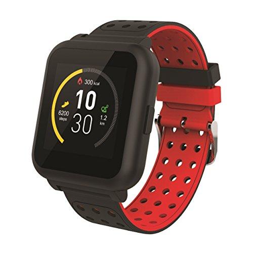 Muvit I/O MIOSMW009 Reloj de Actividad y Sueño, Negro y Rojo, M