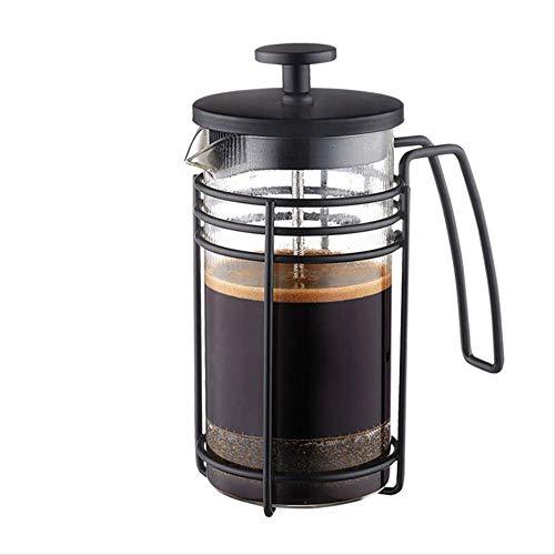 1000ml met de hand gewassen glas koffiepot hand druk theepot