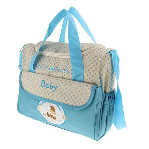 Imagen para Bolso Cambiante Hombro Mabre para Niños Recién Nacidos Grande y de Oxford - 29x14x26cm - Cielo azul, Como se describe