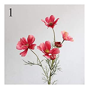 WXIANG Fake Flower 1pc Artificial Cosmos Silk 6 Head Gesang Flower Living Room Floor Display Fake Flower Wedding Scene Decoration Photography Props Decorative Flower