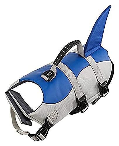 M3 Decorium Chaleco Salvavidas del Perro Chaleco de flotación Chaleco de flotación Desvío de Rescate Pet Lifesaver Life Preserver Swimsuit con Correa Ajustable (Size : S)
