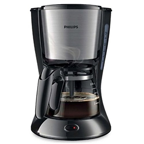 Philips Daily Collection cafetera hd7434/20 con jarra de vidrio (diseño compacto (0.6l) Pistilo negro 220 V